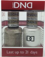 DND Daisy Duo Gel W/matching nail polish lacquer - GLITTER FOR YOU - 423