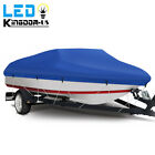 14-22ft Trailerable Boat Cover 210d Oxford Waterproof Fit Fishing Ski Boats Blue