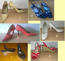 lote zapatos tacón sandalias cuña chica 35 36