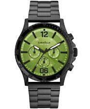 Caravelle New York Men's 45A107 Analog Display Japanese Quartz Black Green Watch