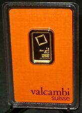 GOLD BAR 5 Gram Fine AU 999,9 Assay Certificate Valcambi Suisse Swiss Bullion