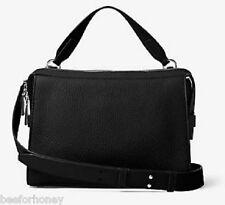 NWT MICHAEL KORS Ingrid Medium Leather Shoulder Bag Black