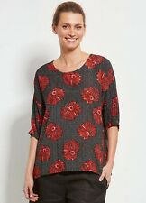Masai Polkadot Red Flower Oversized Tunic Dylan Top - Size M