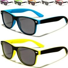 CHILDRENS DESIGNER BLACK SUNGLASSES KIDS BOYS GIRLS RETRO VINTAGE SQUARE UV400