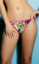 Freya Bikini Brief Eden Pier Size XL 16 18 Reversible Side Tie Bottom Pink 3195