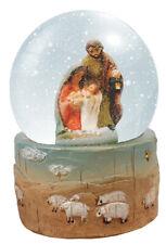 "Christmas Holy Family Resin Nativity Waterball New 3"" Inch"
