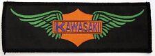 "KAWASAKI ""alas"" Vintage cose en el remiendo Biker Motocicleta Yamaha Suzuki"