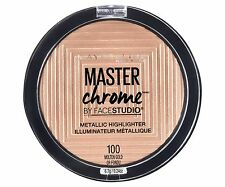New Maybelline FaceStudio Master Chrome Metallic Highlighter #100 Molten Gold