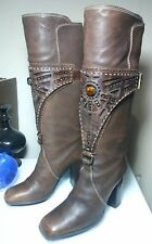 Baldinini Womens Brown Leather Boots 36 Made in Italy Must Have Buy it SHIPSFAST