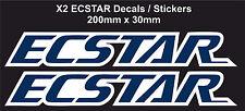ECSTAR Decals / Stickers for Suzuki GSXR Moto GP Suzuki Team (200mm x 30mm) X2