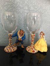 Disney Beauty and the Beast verres à vin, belle et bête, Set de 2, M. et Mme