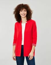 Joules Womens Rana Milano Knit Cardigan - Red - 6