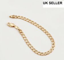 "9ct 9K Yellow ""Gold Filled""Young Boy Girl Curb Ring link Bangle Bracelet.W=4.5mm"