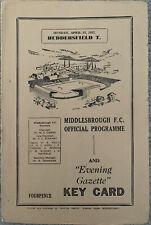 More details for middlesbrough v huddersfield town 1956/57