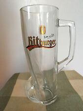 Bitburger German Tall Beer Glass Mug Soccer World Cup Football Bitte Ein Bit
