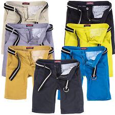 Rock Creek Herren Designer Chino Shorts kurze Hose Chinoshorts Gürtel RC-2133