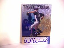 Walker Weickel 2012 LEAF VALIANT 16/25 BLUE PRISMATIC AUTO ROOKIE  FREE SHIP