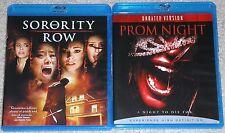 Horror Blu-ray Disc Lot - Sorority Row (Used) Prom Night (Used)