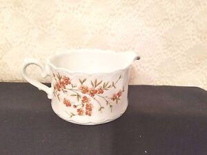 Vintage Eschenbach Bavaria Porcelain Creamer Sauce Server Orange Flowers