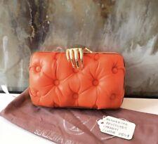 Benedetta Bruzziches Orange Carmen Hand Quilted Clutch Bag