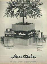 B- Publicité Advertising 1963 Eau de Cologne Homme Moustache Marcel Rochas
