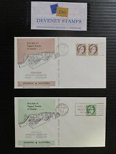CANADA #337p-341p COMPLETE SET OF FDCs