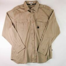 Artful Dodger Khaki Button Up Shirt XXL Long Sleeves