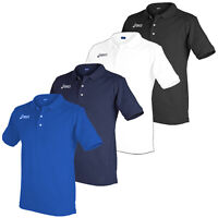 asics Herren Poloshirt Kragen kurzarm Knopfleiste Freizeit Sport Hemd Shirt