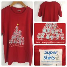 Twas The Night Before Christmas Mice Vintage Single Stitch T Shirt Size Large