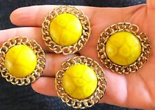 4 unit Latest Indian Gold base Colour Stone Buttons Crafting dress making