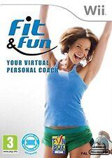 Nintendo Wii  -  FIT & FUN virtual personal coach -