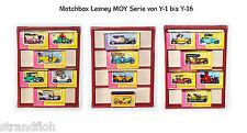 Matchbox Lesney Yesteryear  MOY 16 Modelle in OVP  Y-1 bis Y-16 ( unbespielt )