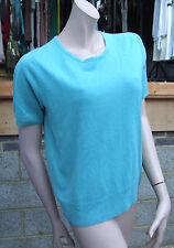 M&S CLASSIQUES Magnificent ECUME DE MER Aqua-Marine tricot vert pull UK