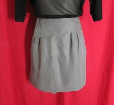 Portmans Olive Silk Mini Wrap Style Skirt NWTS Size L RRP $99.95 Party/Club*SALE