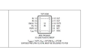 LT3093EMSE Ultralow Noise, Ultrahigh PSRR Negative Linear Regulator