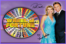 4x6 SIGNED AUTOGRAPH PHOTO REPRINT of VANNA WHITE PAT SAJAK Wheel of Fortune
