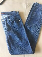Ladies 7 For All Mankind Blue Skinny Jeans Size 29