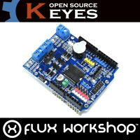Keyes L298P Motor Driver Shield for Arduino UNO Funduino I2C Flux Workshop