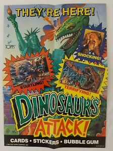 1988 Topps Dinosaurs Attack Window Folded Display Poster