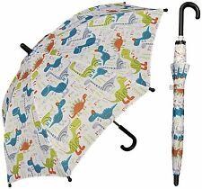 "32"" Children Kid Dinosaur Dino Print Umbrella - RainStoppers Rain/Sun UV"