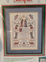New Dimensions Blessed Nativity Sampler counted cross stitch kit Christmas