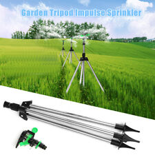 Tripod Impulse Sprinkler Pulsating Telescopic Watering Grass Lawn Yard & Garden