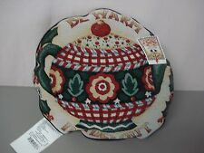 """USA Made NWT Mary Engelbreit Cup Of Kindness 17"""" Tapestry Throw Pillow #343"""