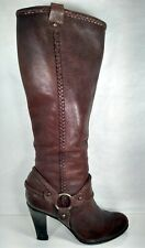 FRYE 77801 Vicki Tail Brown Leather Harness Boots Women US 7.5 Well Maintained