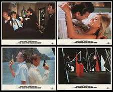 THE MAN WITH THE GOLDEN GUN (1974) ORIGINAL SET OF 4 LOBBY CARDS REISSUED IN '84
