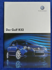 VW Golf R32 MJ 2008 - Golf V 3,2l VR6 250 PS - Prospekt Brochure 05.2007