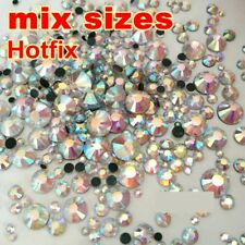 Mix Sizes 4160pcs/Bag Crystal AB DMC Hot Fix Rhinestones FlatBack Hot Fix