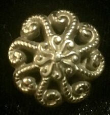 VTG Antique  Octopus Silver Metal shank Button