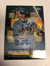 2014 Topps Chrome Buster Posey Autograph Topps Shelf 21/25 Rare