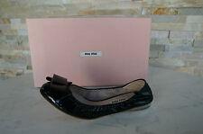 MIU MIU par PRADA 37 Ballerines Mocassins Chaussures noir neuf